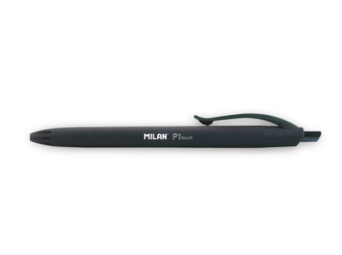 bolígrafo Milan P1 Touch Rubber Negro